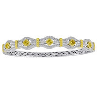 KB1709WY-18K WY 18K BANGLE .69RD .18YDRD .97YDRC