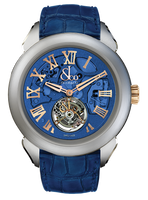 Jacob & Co Palatial Tourbillon Hours & Minutes Titanium Blue Dial Watch 150.520.24.NS.QB.1NS