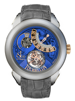 Jacob & Co Palatial Tourbillon Jump Hour Manual Titanium Blue Dial Watch 150.510.24.NS.PB.1NS