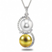 Imperial Golden & White Cultured PearlsCSWP001/GWSS18