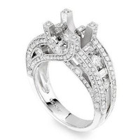 Micro-pave Diamond Engagement Ring Setting