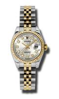 Rolex Datejust Lady Steel & YG Fluted Bezel Jubilee 179173SJDJ