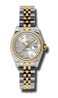 Rolex Datejust Lady Steel & YG Fluted Bezel Jubilee 179173SDJ