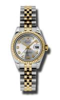 Rolex Datejust Lady Steel & YG Fluted Bezel Jubilee 179173SCAJ