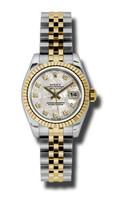 Rolex Datejust Lady Steel & YG Fluted Bezel Jubilee 179173MTDJ