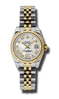 Rolex Datejust Lady Steel & YG Fluted Bezel Jubilee 179173MDRJ