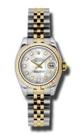 Rolex Datejust Lady Steel & YG Fluted Bezel Jubilee 179173MDJ