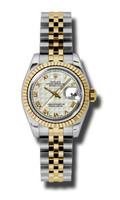 Rolex Datejust Lady Steel & YG Fluted Bezel Jubilee 179173IPRJ