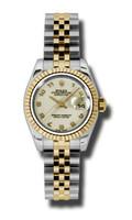 Rolex Datejust Lady Steel & YG Fluted Bezel Jubilee 179173IJAJ