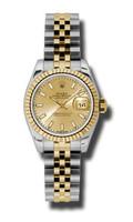 Rolex Datejust Lady Steel & YG Fluted Bezel Jubilee 179173CHSJ