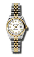 Rolex Datejust Lady Steel & YG Domed Bezel Jubilee 179163WDJ