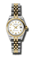 Rolex Datejust Lady Steel & YG Domed Bezel Jubilee 179163WAJ