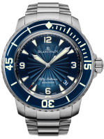Blancpain 50 Fathoms Automatic Blue Steel with Steel Bracelet Watch 5015D-1140-71