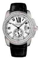 Cartier Calibre De Cartier (WG Diamonds/ Silver /Leather)