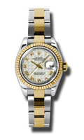 Rolex Datejust Lady Steel & YG Fluted Bezel Oyster 179173IPRO