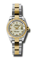 Rolex Datejust Lady Steel & YG Fluted Bezel Oyster 179173IJAO