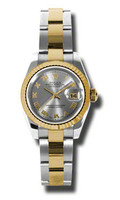 Rolex Datejust Lady Steel & YG Fluted Bezel Oyster 179173GRO