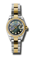 Rolex Datejust Lady Steel & YG Fluted Bezel Oyster 179173DKMDO