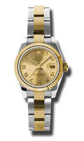 Rolex Datejust Lady Steel & YG Fluted Bezel Oyster 179173CHCAO