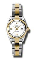 Rolex Datejust Lady Steel & YG Domed Bezel Oyster 179163WADO