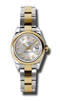 Rolex Datejust Lady Steel & YG Domed Bezel Oyster 179163SDO