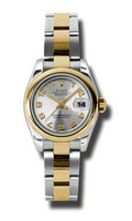 Rolex Datejust Lady Steel & YG Domed Bezel Oyster 179163SCAO