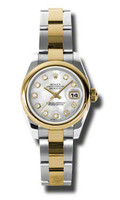 Rolex Datejust Lady Steel & YG Domed Bezel Oyster 179163MDO