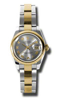 Rolex Datejust Lady Steel & YG Domed Bezel Oyster 179163GRO