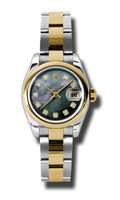 Rolex Datejust Lady Steel & YG Domed Bezel Oyster 179163DKMDO