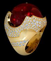 Mousson Atelier Caramel Tourmaline & Diamond Ring R0034-0/2