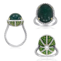 11.51ct Certified Natural Emerald & Diamond Ring