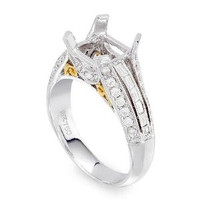 Pave Diamond Engagement Ring Setting 1042