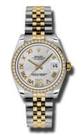 Rolex Datejust 31mm Steel & YG 46 Dia Bezel Jubilee 178383SDRJ