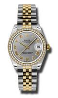 Rolex Datejust 31mm Steel & YG 46 Dia Bezel Jubilee 178383GRJ