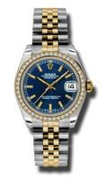 Rolex Datejust 31mm Steel & YG 46 Dia Bezel Jubilee 178383BLIJ