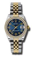Rolex Datejust 31mm Steel & YG 46 Dia Bezel Jubilee 178383BLCAJ