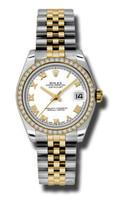 Rolex Datejust 31mm Steel & YG 46 Dia Bezel Jubilee 178383WRJ