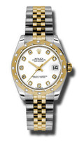 Rolex Datejust 31mm Steel & YG 24 Dia Bezel Jubilee 178343WDJ