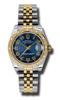 Rolex Datejust 31mm Steel & YG 24 Dia Bezel Jubilee 178343BLCAJ
