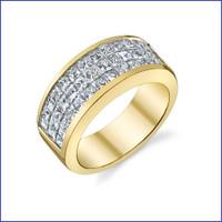 Gregorio 18K WG Diamond Engagement Band R-534