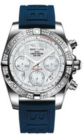 Breitling Chronomat 41 Steel Dia Bezel Diver Pro III Strap Deployant AB0140AA/A746