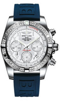 Breitling Chronomat 41 Steel Dia Bezel Diver Pro III Strap Tang AB0140AA/A747