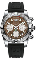 Breitling Chronomat 41 Steel Dia Bezel Diver Pro III Strap Deployant AB0140AA/Q583