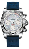 Breitling Chronomat 41 Steel Dia Bezel Diver Pro III Strap Deployant AB0140AA/G712