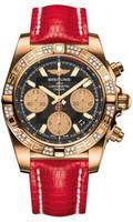 Breitling Chronomat 41 Gold Dia Bezel Lizard Deployant HB0140AA/BA53