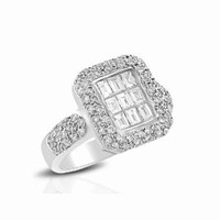 18k WG & Diamond Right Hand Ring