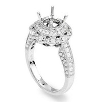 1.0 Ct Diamond Engagement Ring Setting