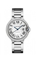 Cartier Ballon Bleu Medium (Diamonds/Silver/WG)