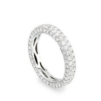 2.74 Ctw Micro-pave Diamond Engagement Band Ring 1138