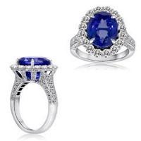 8.34 Cttw Tanzanite Diamond Ring